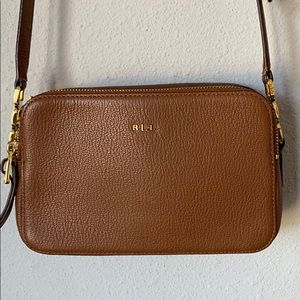 Ralph Lauren Camera Bag leather medium crossbody
